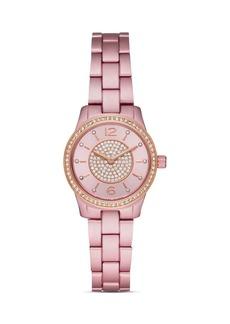 Michael Kors Runway Pink Aluminum Link Bracelet Watch, 28mm