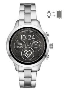d2f2714fa783f Michael Kors Runway Silver-Plated Stainless Steel Touchscreen Bracelet  Smart Watch