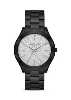 Michael Kors Runway Slim Silver Pav� Dial Link Bracelet Watch, 42mm