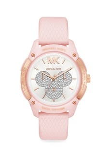 Michael Kors Ryder Pavé Silicone-Strap Multifunction Watch