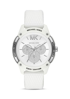 Michael Kors Ryder Silicone Strap Watch, 44mm