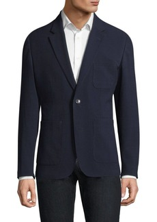 Michael Kors Seersucker Patterned Blazer
