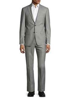 Michael Kors Sharkskin Two-Button Wool Two-Piece Suit