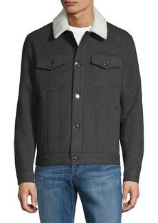 Michael Kors Sherpa-Lined Trucker Jacket