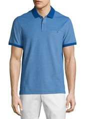 Michael Kors Short-Sleeve Contrast-Trim Pique Polo Shirt