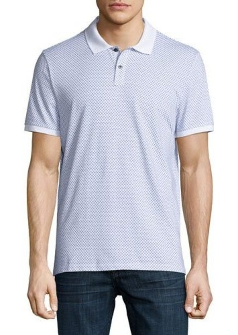 Michael Kors Short-Sleeve Dot Pique Polo Shirt
