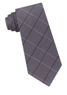 Michael Kors Silk Classic Glen Check Tie