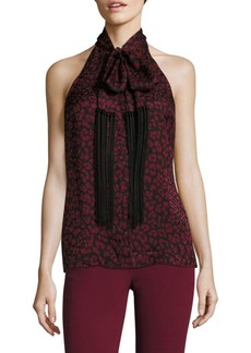 Michael Kors Silk Fringe Halter Top