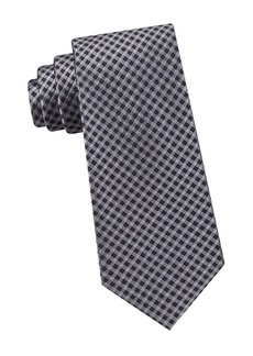 Michael Kors Silk Gingham Check Tie