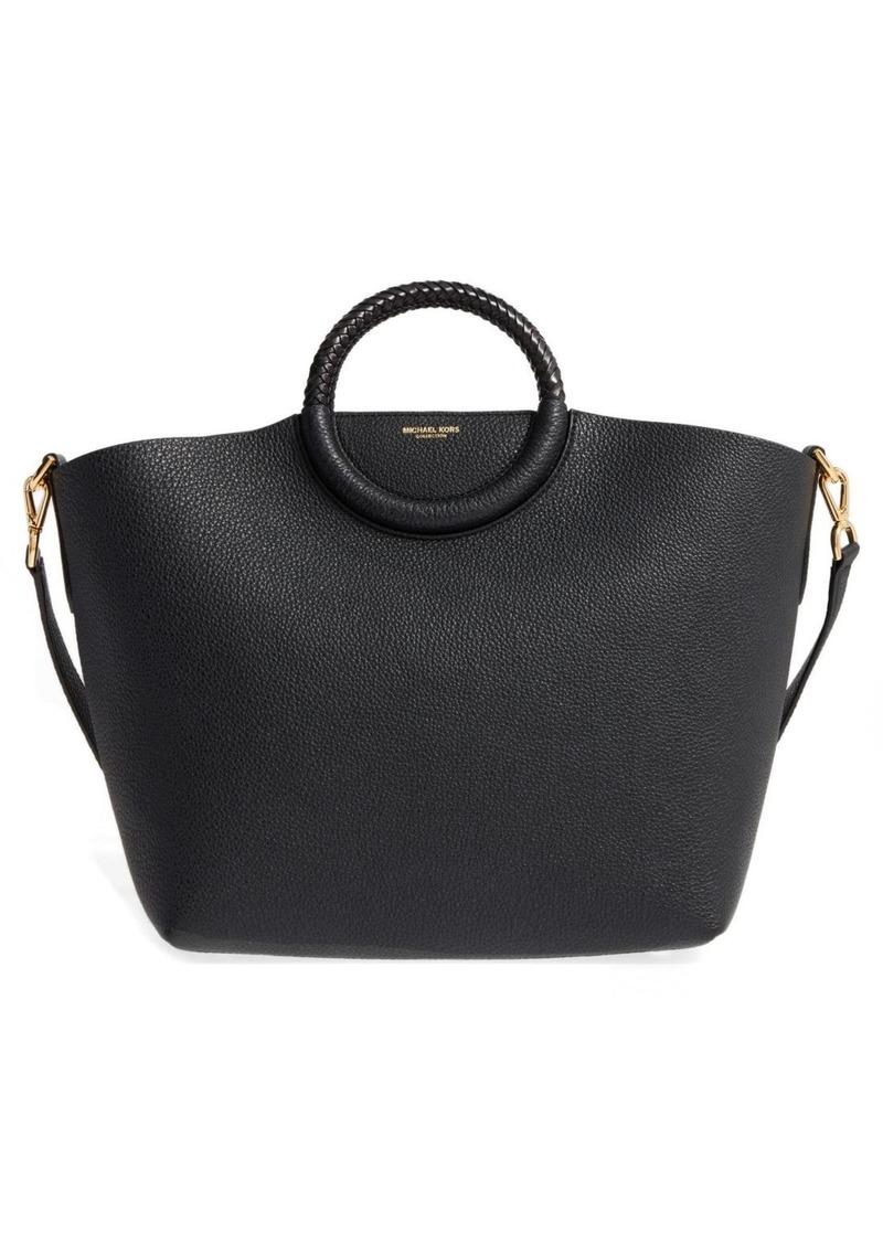 7a684fc13f6f On Sale today! Michael Kors Michael Kors Skorpios Leather Market Bag