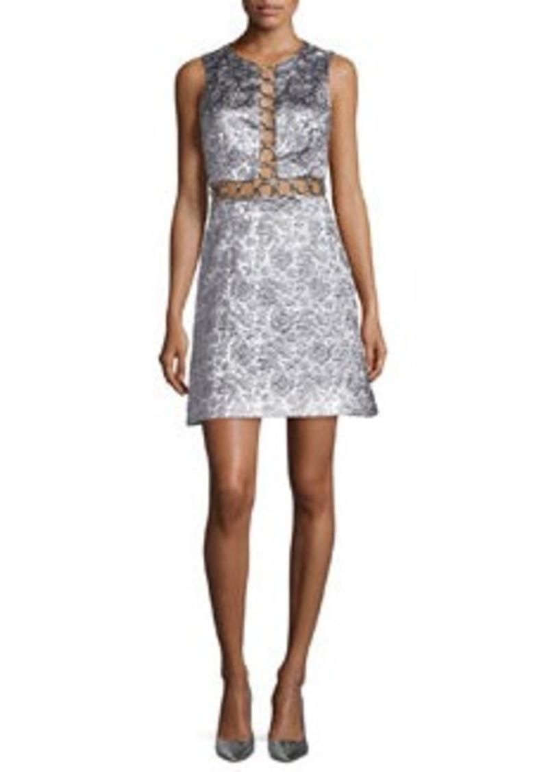 Michael Kors Sleeveless Brocade Dress w/Rings