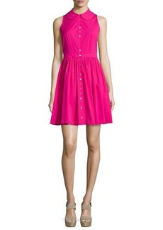 Michael Kors Sleeveless Collared Shirtdress