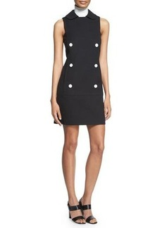Michael Kors Sleeveless Double-Breasted Shirtdress