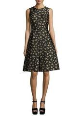 Michael Kors Sleeveless Floral-Print Dance Dress