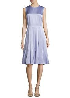 Michael Kors Sleeveless Godet-Pleated Dress