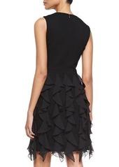 Michael Kors Sleeveless Ruffle-Skirt Sheath Dress