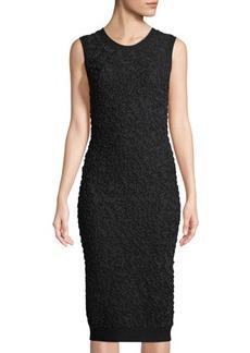 Michael Kors Collection Sleeveless Soutache Sheath Dress