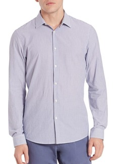 Michael Kors Slim-Fit Luca Linen Button-Up