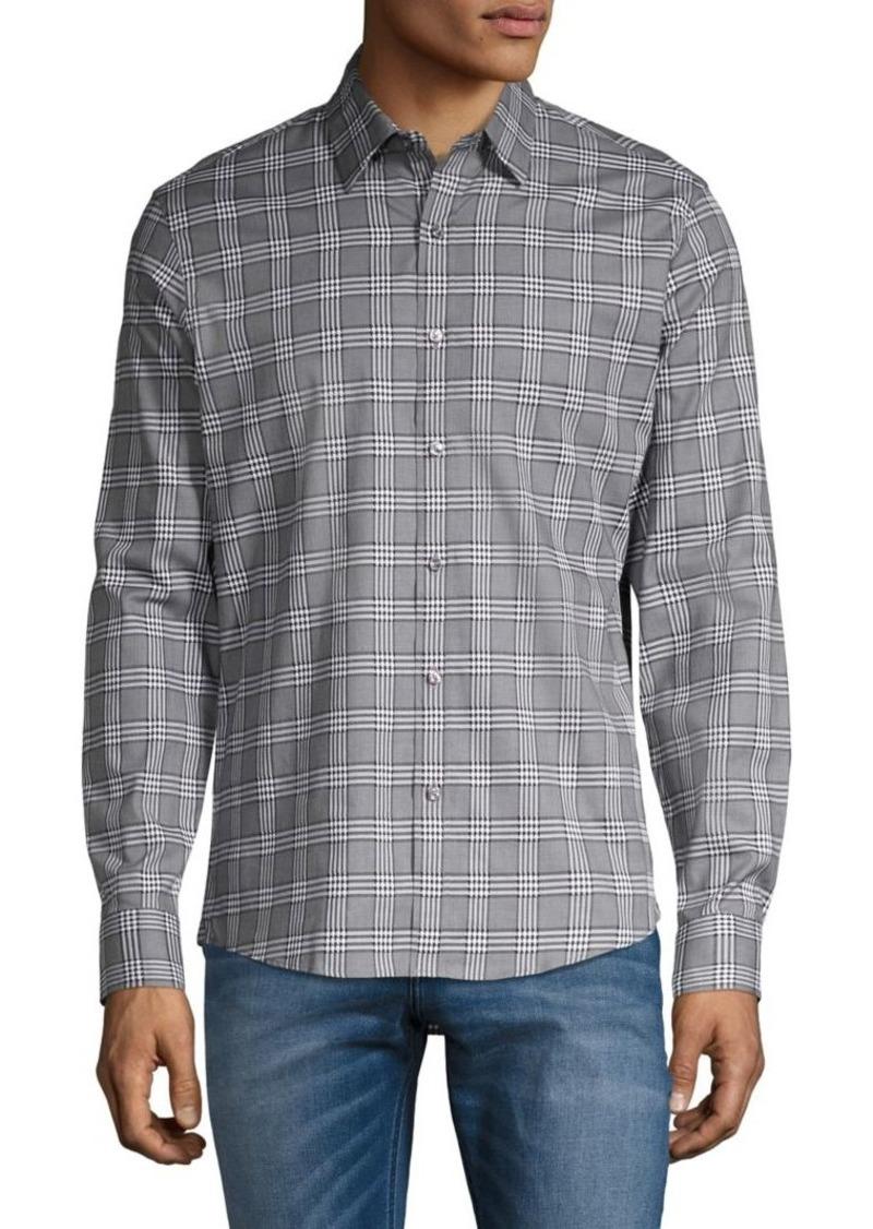 Michael Kors Slim-Fit Plaid Shirt