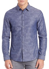 Michael Kors Slim-Fit Woven Camo Shirt