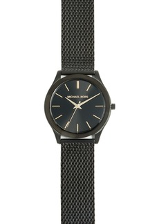 Michael Kors Slim Runway Black Mesh Watch, 42mm