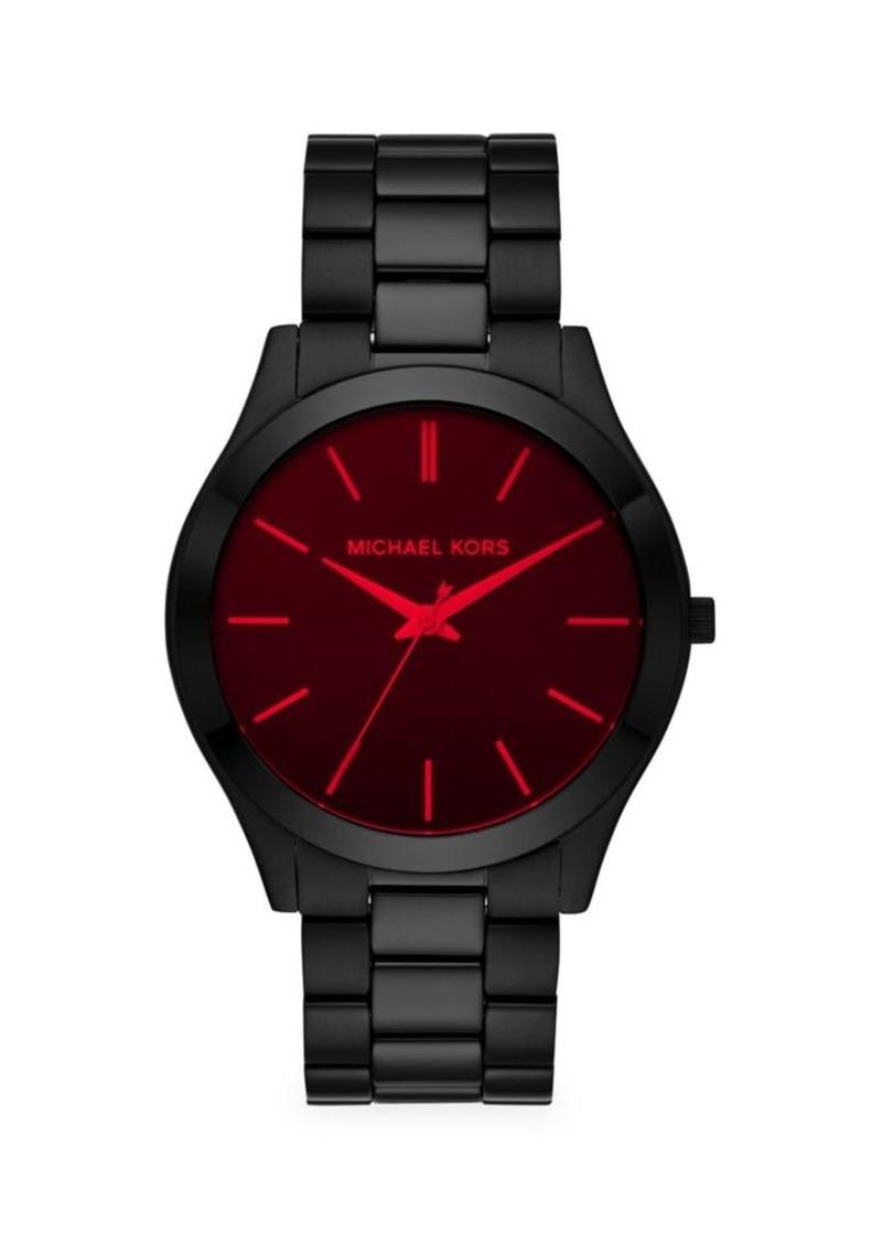 Michael Kors Slim Runway Black Stainless Steel Bracelet Watch