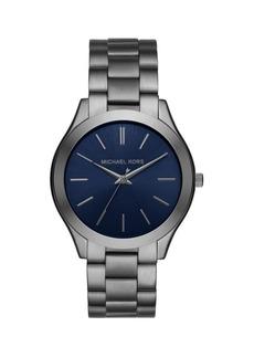 Michael Kors Slim Runway Gunmetal Three-Hand Watch