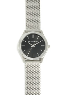 Michael Kors Slim Runway Stainless Steel Mesh Watch, 42mm