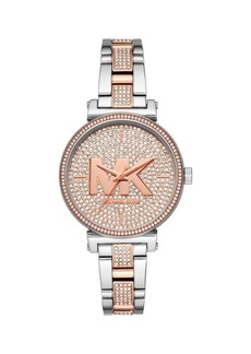 Michael Kors Sofie 3-Hand Two-Tone Stainless Steel Bracelet Watch