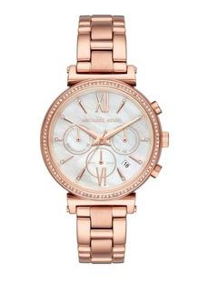 Michael Kors Sofie Rose Goldtone Stainless Steel Bracelet Watch