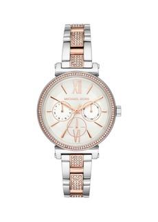 Michael Kors Sofie Stainless Steel & Crystal Bracelet Multifunction Watch