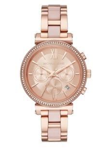 Michael Kors Sofie Stainless Steel Bracelet Chronograph Watch