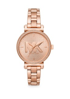 Michael Kors Sofie Three-Hand Rose Goldtone Stainless Steel Watch