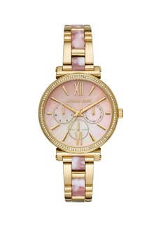 Michael Kors Sofie Two-Tone Stainless Steel Multifunction Bracelet Strap