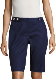 Michael Kors Solid Bermuda Shorts