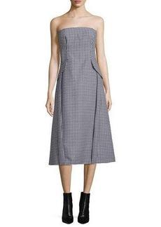Michael Kors Strapless Bustier Dress W/Pockets