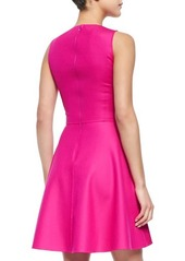 Michael Kors Stretch-Crepe Fit-and-Flare Dress