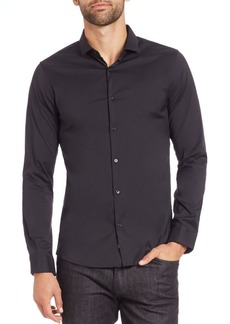 Michael Kors Stretch Solid Button-Down Shirt
