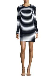 Michael Kors Striped Long-Sleeve T-Shirt Dress