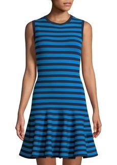 Michael Kors Collection Striped Sleeveless Flounce Dress