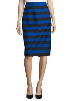 Michael Kors Striped Slim Pencil Skirt