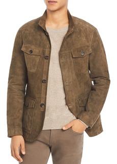 Michael Kors Suede Regular Fit Field Jacket