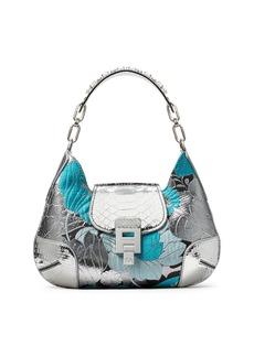 Michael Kors Summer Floral Metallic Brocade & Python Shoulder Bag