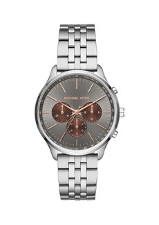 Michael Kors Sutter Stainless Steel Bracelet Chronograph Watch