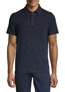 Michael Kors Tech Floral Short-Sleeve Polo