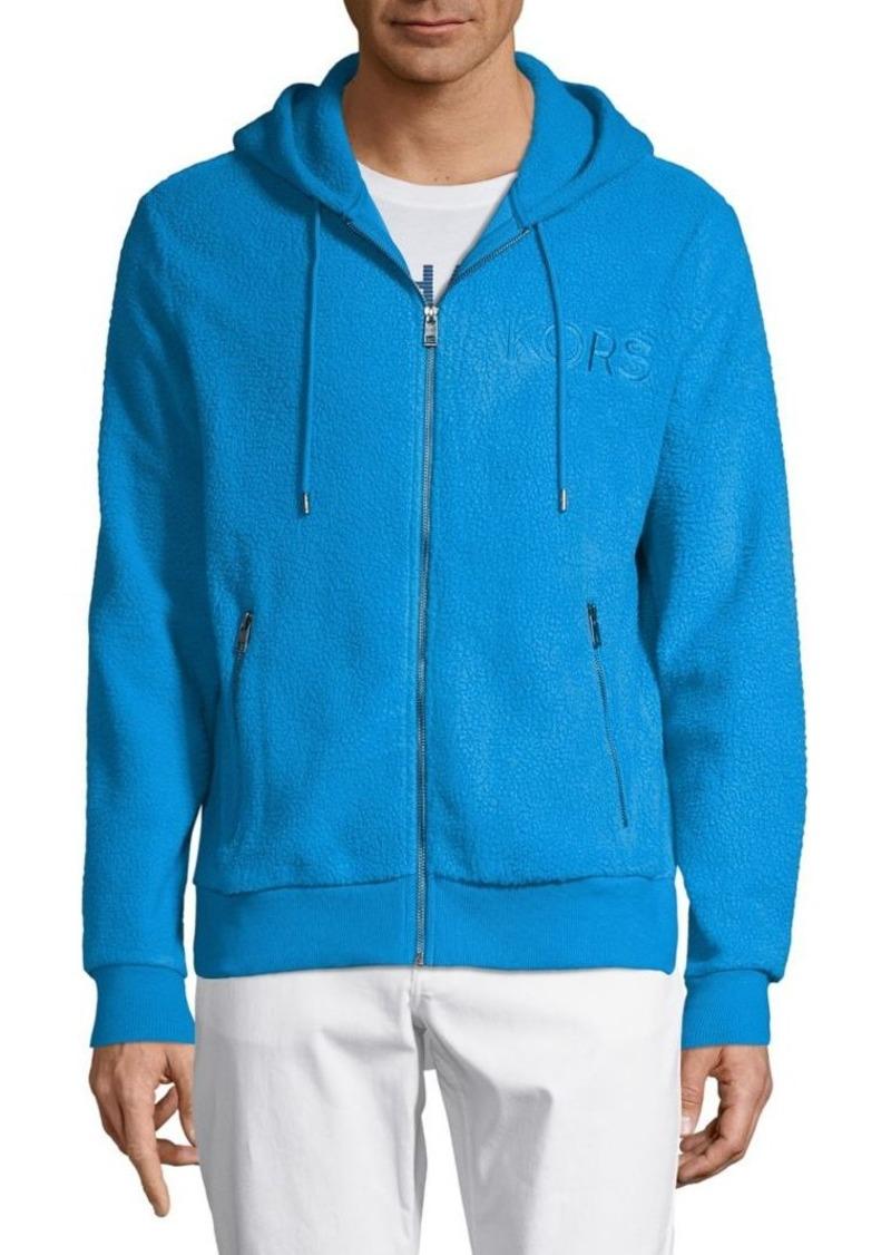 Michael Kors Textured Zip Hoodie