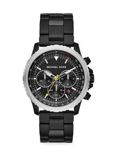 Michael Kors Theroux Chronograph Black IP Stainless Steel Watch