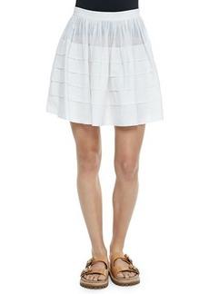 Michael Kors Tiered Cotton Miniskirt
