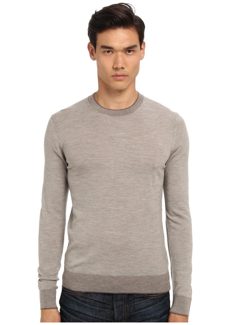 Michael Kors Tipped Merino Crew Sweater