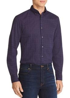 Michael Kors Tonal Grid-Pattern Slim Fit Shirt